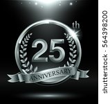 template silver logo 25th... | Shutterstock .eps vector #564398200