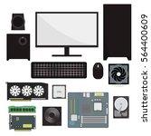 computer equipment. | Shutterstock .eps vector #564400609