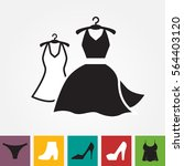 party fashion dress icon or... | Shutterstock .eps vector #564403120
