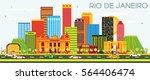 rio de janeiro skyline with... | Shutterstock . vector #564406474