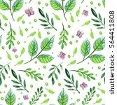 watercolor hand drawing pattern ... | Shutterstock . vector #564411808