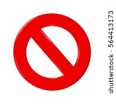 no sign isolated on white... | Shutterstock .eps vector #564413173