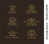 crown logo set. luxury signs in ... | Shutterstock .eps vector #564413644