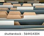 a 3d render closeup view of an... | Shutterstock . vector #564414304