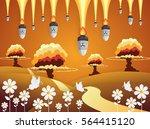 nuclear war   atom bombs...   Shutterstock .eps vector #564415120