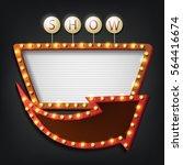 vector illustration of showtime ... | Shutterstock .eps vector #564416674