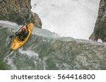 in rissbachklamm in karwendel ... | Shutterstock . vector #564416800