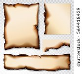 burnt paper scorched... | Shutterstock .eps vector #564418429