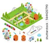 amusement park and part set... | Shutterstock .eps vector #564420790