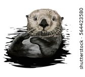 Sea Otter Illustration
