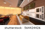 Stock photo  d cg rendering of a cafeteria 564424426