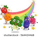 illustration featuring fruit... | Shutterstock .eps vector #564424468