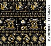 ornamental seamless pattern.... | Shutterstock .eps vector #564426079