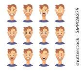 set of male emoji characters.... | Shutterstock .eps vector #564426379