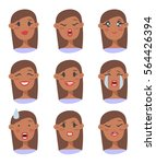 set of emotional character.... | Shutterstock .eps vector #564426394