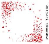 square corner red frame or... | Shutterstock . vector #564431404