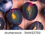 Ripe Dark Grape Close Up....