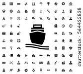 cargo ship icon illustration... | Shutterstock .eps vector #564432838
