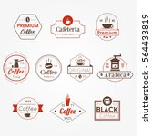 cafe shop vintage coffee vector ... | Shutterstock .eps vector #564433819