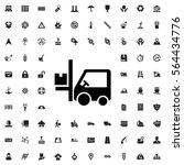 forklift icon illustration... | Shutterstock .eps vector #564434776
