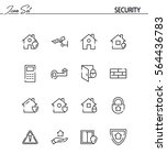 security flat icon set....   Shutterstock .eps vector #564436783