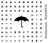umbrella icon illustration... | Shutterstock .eps vector #564438376