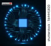 cpu. microprocessor. microchip. ... | Shutterstock .eps vector #564441820