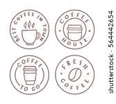 coffee badges. logotypes ... | Shutterstock .eps vector #564442654