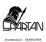 spartan with shield and spear. | Shutterstock .eps vector #564442984