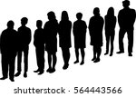 collage of silhouette people... | Shutterstock .eps vector #564443566