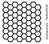 hexagonal vector | Shutterstock .eps vector #564444934