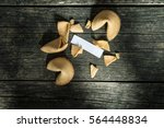 the fortune cookies on old... | Shutterstock . vector #564448834
