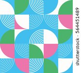 graphic circles seamless... | Shutterstock .eps vector #564451489
