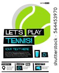 let's play tennis  flat style...   Shutterstock .eps vector #564453970