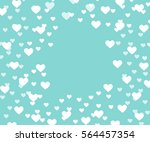 valentines day background.3d... | Shutterstock . vector #564457354