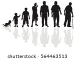 male life cycle silhouette | Shutterstock .eps vector #564463513