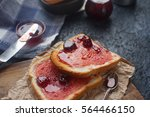 Homemade Toasts With Strawberry ...