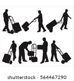 moving service silhouette | Shutterstock .eps vector #564467290