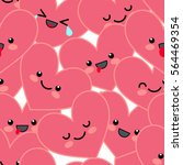 funny background with pink... | Shutterstock .eps vector #564469354