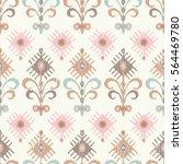 ethnic boho seamless pattern.... | Shutterstock .eps vector #564469780