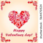 greeting card for valentines... | Shutterstock .eps vector #564470524