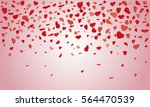 vector background with hearts ... | Shutterstock .eps vector #564470539