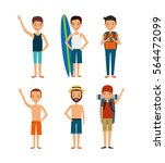 people cartoon icon set over... | Shutterstock .eps vector #564472099