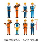 construction workers cartoon... | Shutterstock .eps vector #564472168