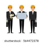 engineers men cartoon icon over ... | Shutterstock .eps vector #564472378
