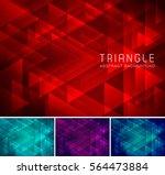triangular abstract background. ...   Shutterstock .eps vector #564473884