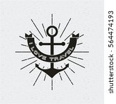 wanderlust card with anchor and ... | Shutterstock .eps vector #564474193