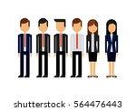 businesspeople wearing... | Shutterstock .eps vector #564476443