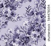 seamless pattern garden flowers | Shutterstock . vector #564478354