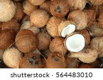 Pile Of Coconuts  In The Food...